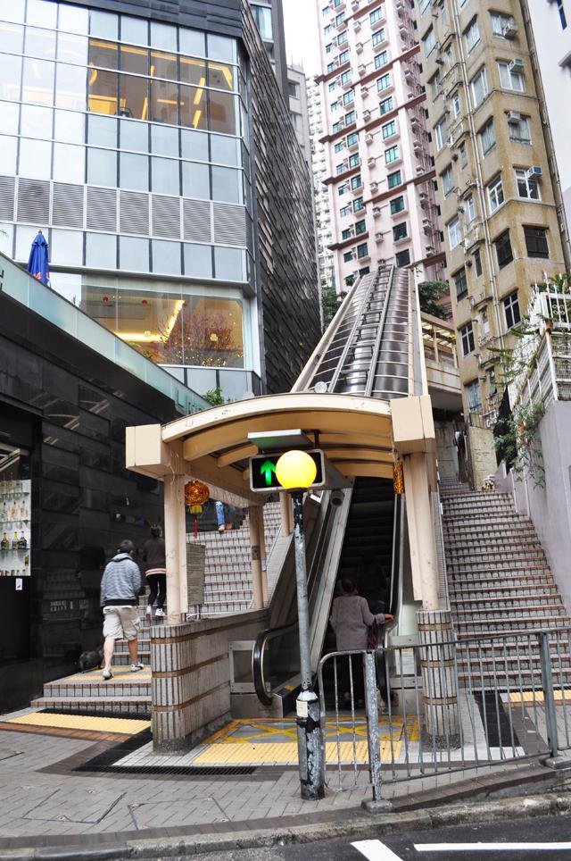 Эскалаторы в Гонконге