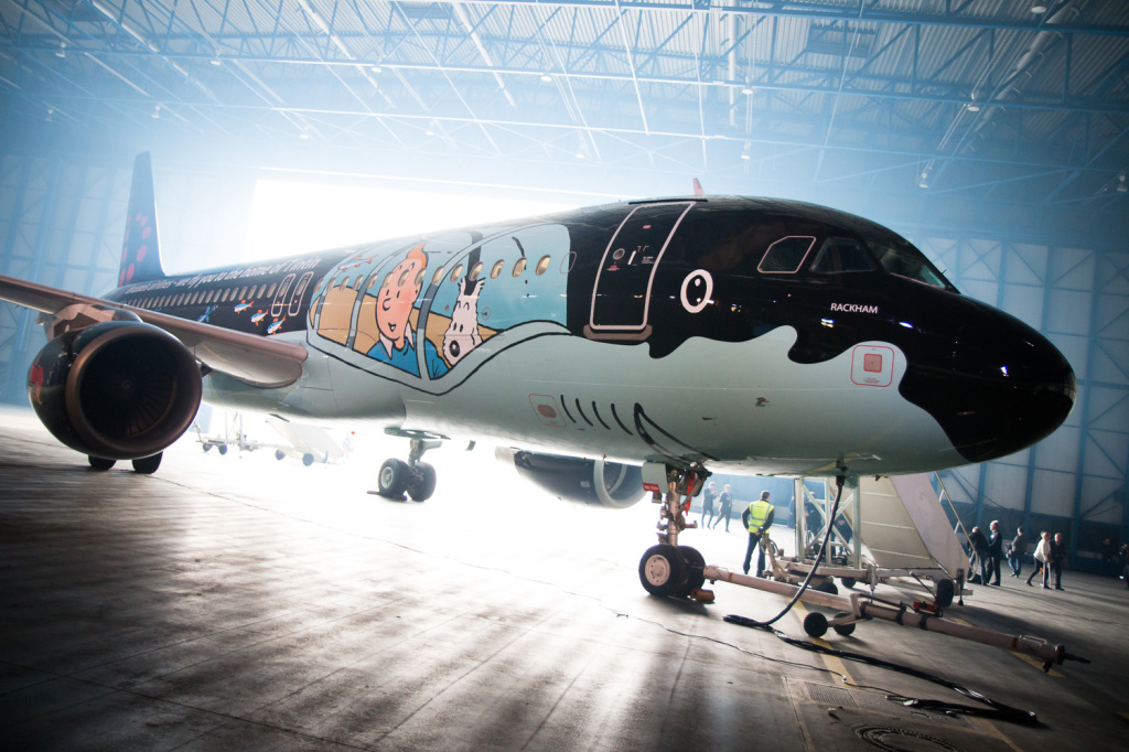Brussels+Airlines+Tintin+Airbus