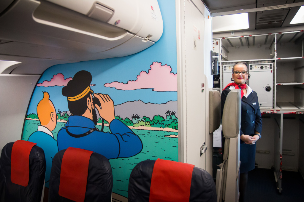 Tintin+cabin+interior+Brussels+Airlines